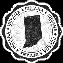 Indiana Outdoor Stamp Sticker