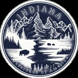 Indiana Tattoo Travel Art Sticker