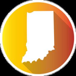 Indiana, Usa Gradient Map Icon Sticker