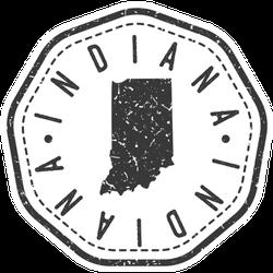 Indiana, Usa Map Stamp Retro Sticker