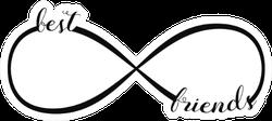 Infinity Sign Best Friends Icon Sticker