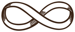 Infinity Sign. Isolated Sketch Icon Black Pictogram Sticker