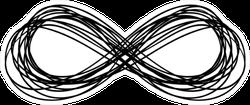 Infinity Symbol Lines Hand Drawn Sticker