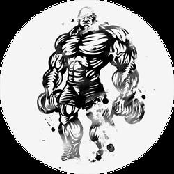 Inked Bodybuilder Sticker