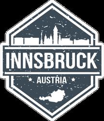 Innsbruck Austria Travel Stamp Sticker