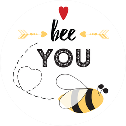Inspirational Bee You Sticker