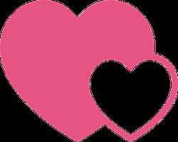 Interlocking Hearts Love Sticker