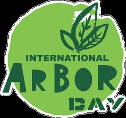 International Arbor Day Green Sticker