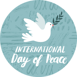 International Day Of Peace Illustration With Dove Sticker