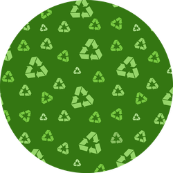 International Resycle Symbol Green Seamless Pattern Sticker