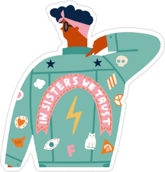 International Women Day Card Sticker