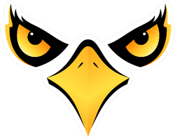 Intimidating Eagle Face Sticker