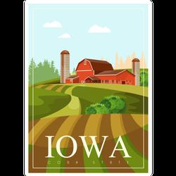 Iowa Farmhouse Sticker