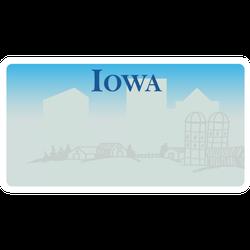 Iowa License Plate Sticker