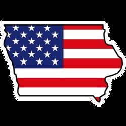 Iowa Map Icon Sticker