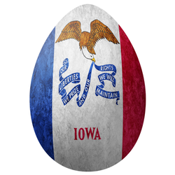 Iowa State Flag Easter Egg Sticker