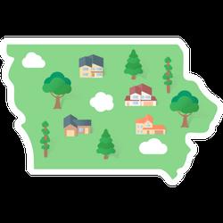 Iowa States Landmarks Sticker