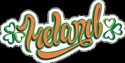 Ireland Calligraphy Sticker