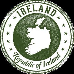 Ireland European Country Stamp Sticker