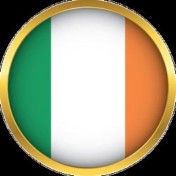 Ireland Flag Button Sticker