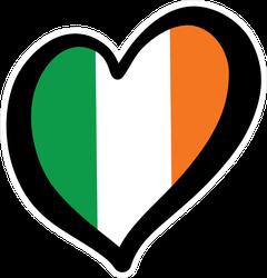 Ireland Flag Inside Heart Sticker
