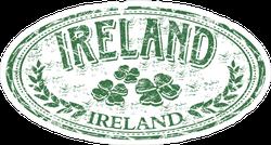 Ireland Green Grunge Stamp Sticker