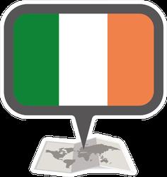 Ireland Map And Pointer Sticker