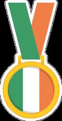 Ireland National Flag Gold Medal Sticker