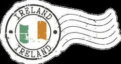 Ireland Postal Grunge Stamp Sticker