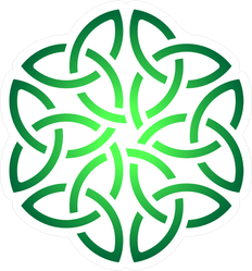 Irish Green Celtic Shamrock Knot In Circle Sticker
