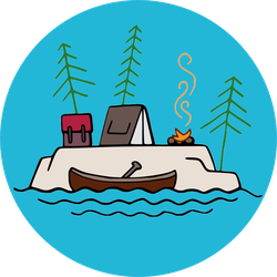 Island Forest Camping Sticker