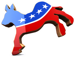 Isolated Democrat Party Symbol Sticker
