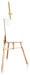 Isolated Easel With Empty Canvas Sticker
