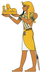 Isolated Figure Of Ancient Egypt Deities Sticker