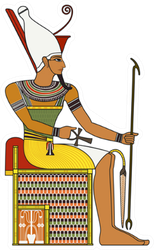 Isolated Figure Of Ancient Egypt Pharaoh Sticker