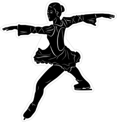 Isolated Figure Skater Sticker