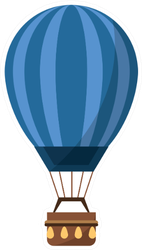 Isolated Hot Air Balloon Design Sticker