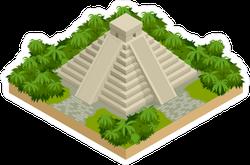 Isometric Mayan Pyramid Sticker