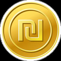 Israel Shekel Coin Sticker