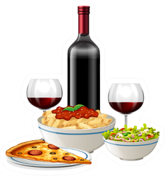 Italian Food And Wine Sticker