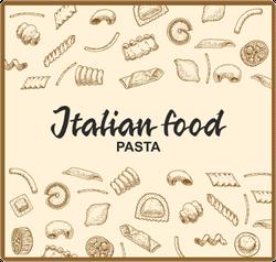 Italian Food Pasta Doodles Sticker