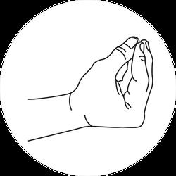 Italian Hand Sign Meme Sticker