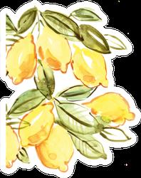 Italian Lemons Watercolor Sticker