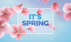 It's Spring Pink Flowers Sticker