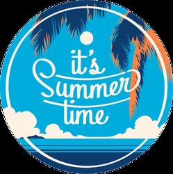 It's Summer Time Palm Sticker