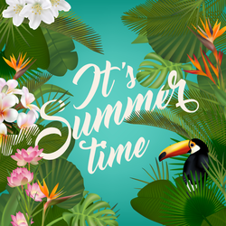 It's Summer Time Tropical Sticker