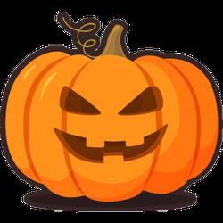 Jack O Lantern Illustration Sticker