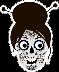 Japanese Sugar Skull Sticker