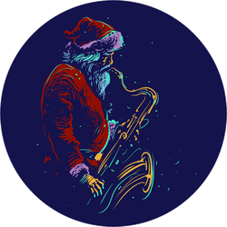 Jazz Santa Playing Saxophone Sticker