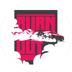 JDM Burn Out Car Sticker